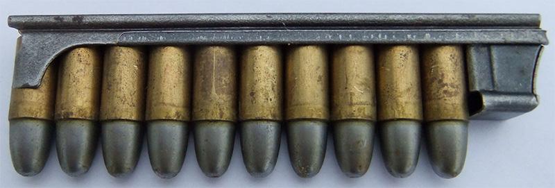 Обойма с патронами 8×19 мм для пистолета Roth Steyr M1907