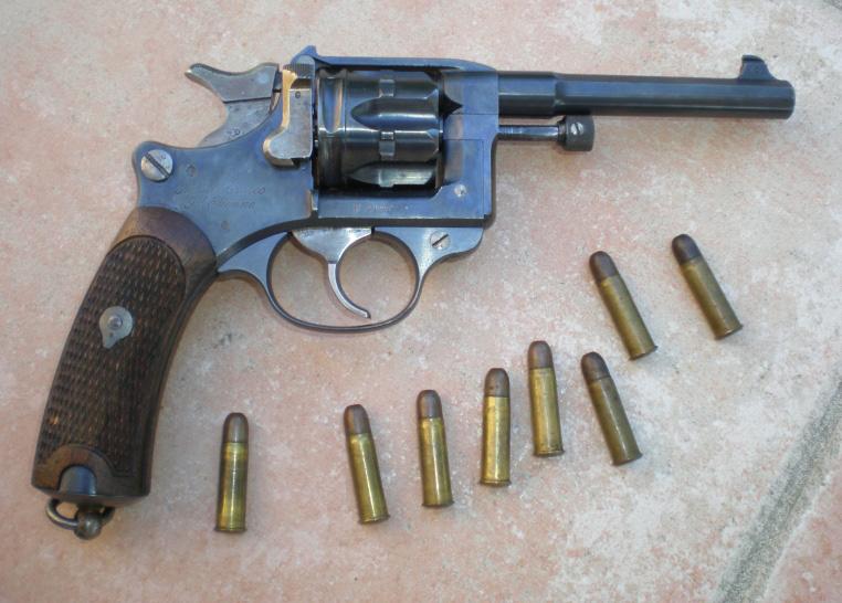Револьвер Modèle 1892 и патроны 8×27 мм Lebel