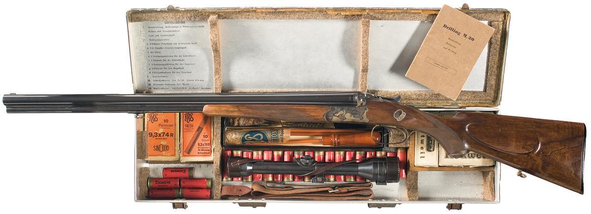 Трехствольное комбинированное ружье Sauer M30 Luftwaffe и его боезапас