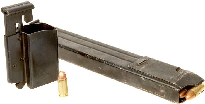 Коробчатый магазин для пистолета-пулемёта MP 40 с присоблением для быстрого снаряжения
