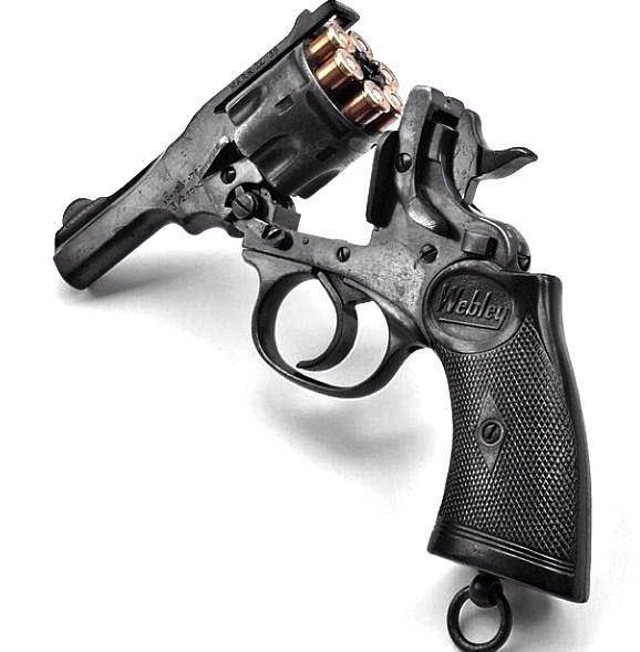 Экстрация патронов из револьвера Webley & Scott