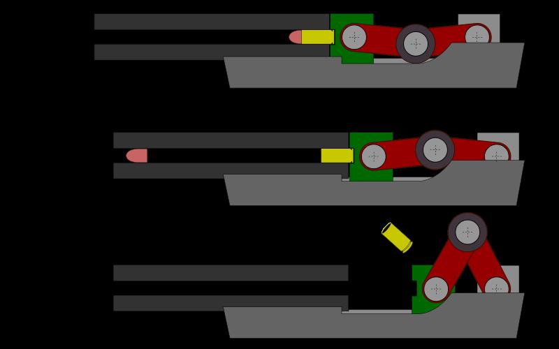 Принцип кривошипно-шатунного запирания
