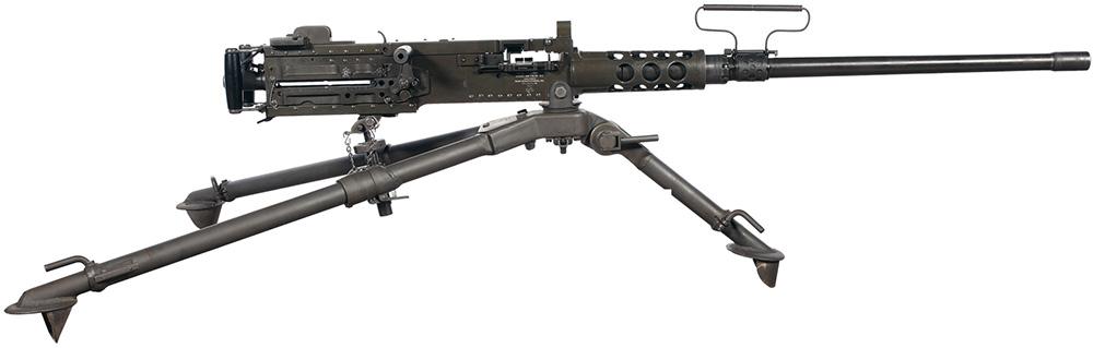 Пулемет Browning M2HB на пехотном станке M3
