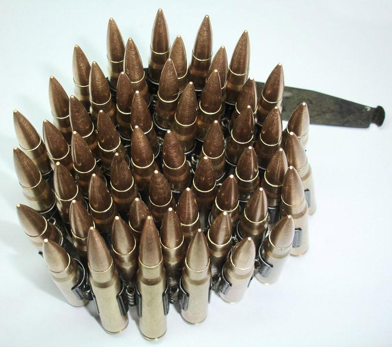 Патроны с пулями плакированными томпаком