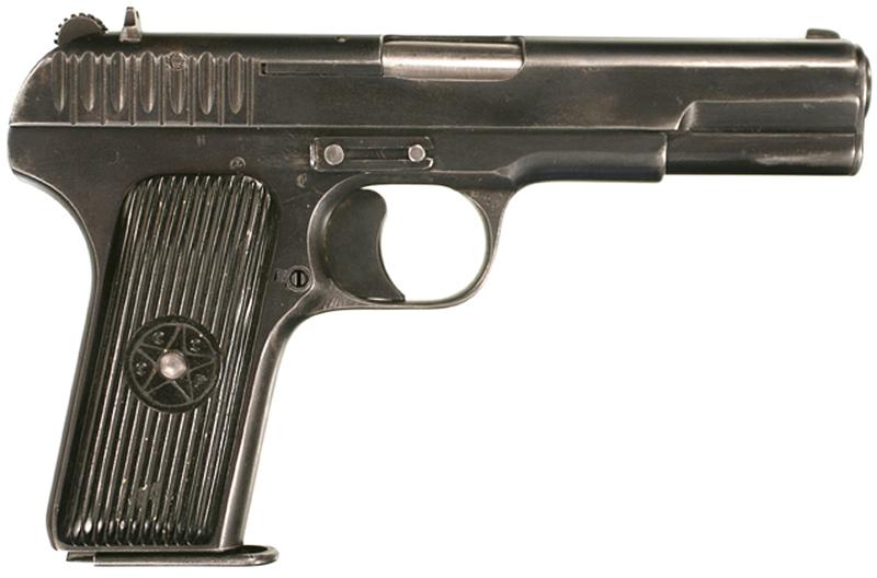 Пистолет ТТ с вороненной отделкой