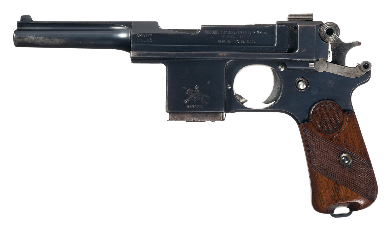 Пистолет Bergmann-Bayard Model 1908 выпущенный в Бельгии на заводе AEP