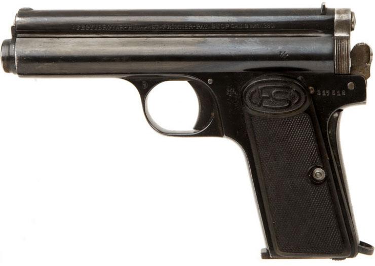 Пистолет Frommer Stop, неполная разборка