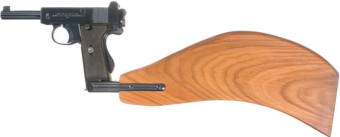 Пистолет Webley & Scott Mark I No. 2 с примкнутыи прикладом