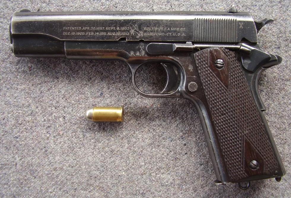 Colt M1911 под английский патрон .455 Webley