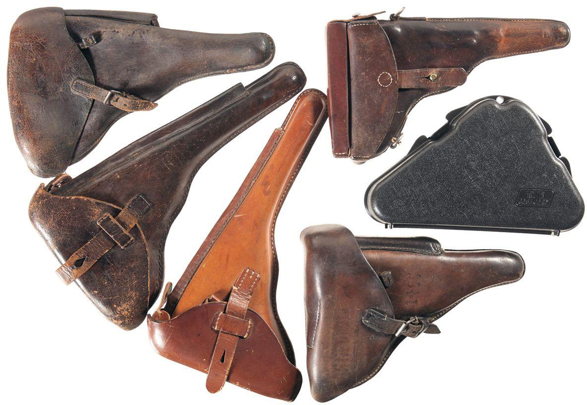 Различные типы кобуры для пистолетов FN Browning M1910 и M1922