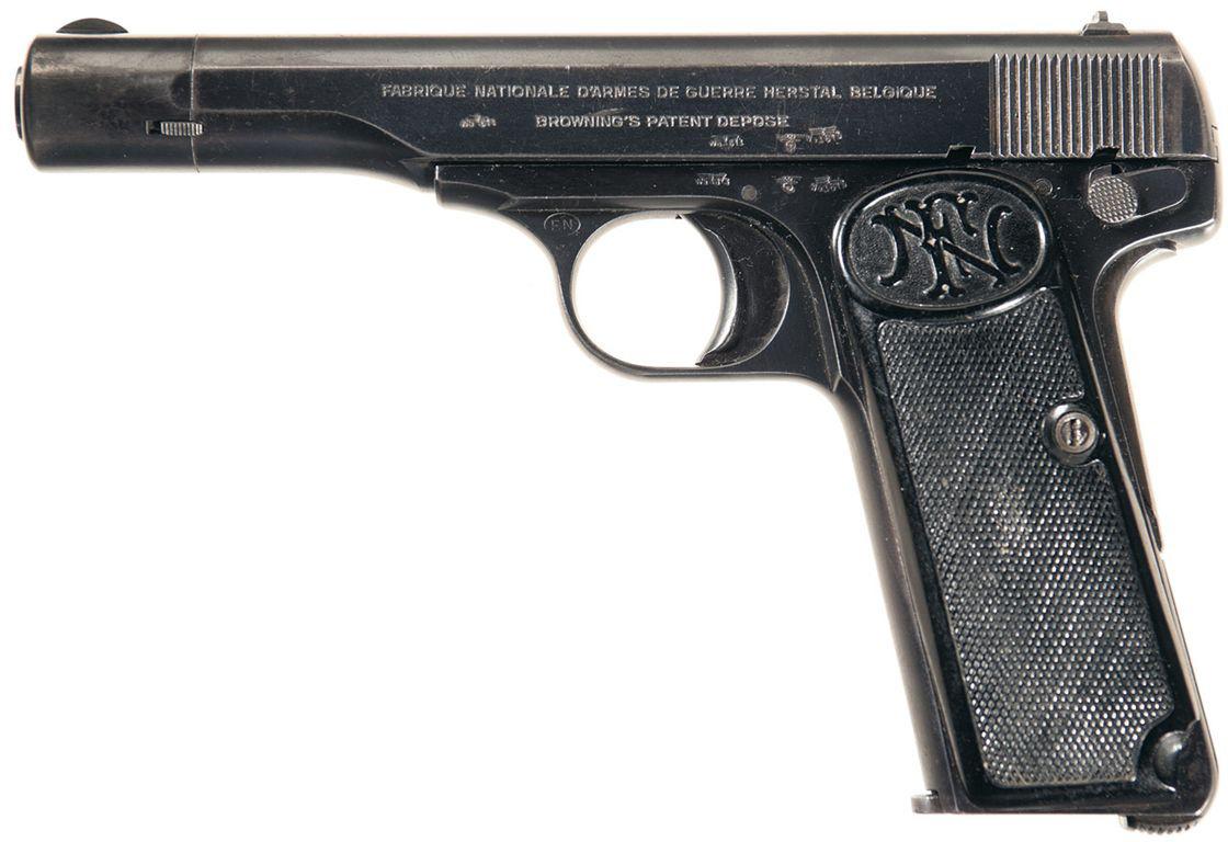 Неполная разборка пистолета FN Browning M1910