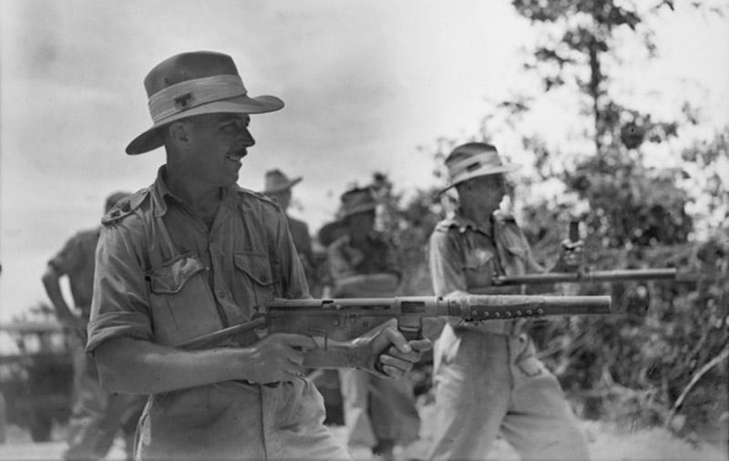 истолет-пулемёт Austen Mk. I с глушителем