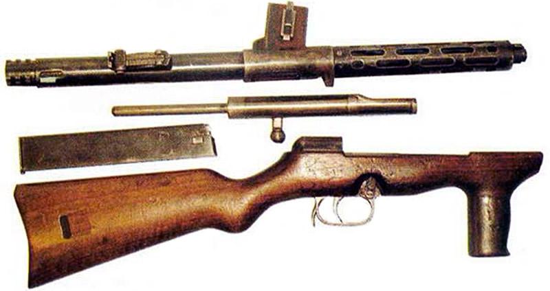 Неполная разборка пистолета-пулемёта EMP