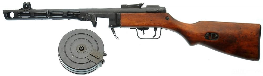 ППШ-41 с секторным прицелом