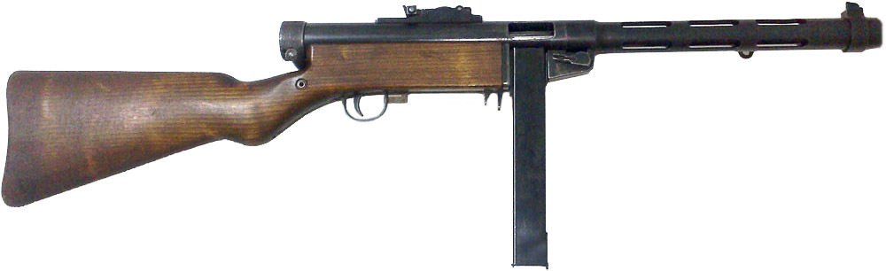 Пистолет-пулемёт Suomi KP/-31 с коробчатым магазином на 20 патронов