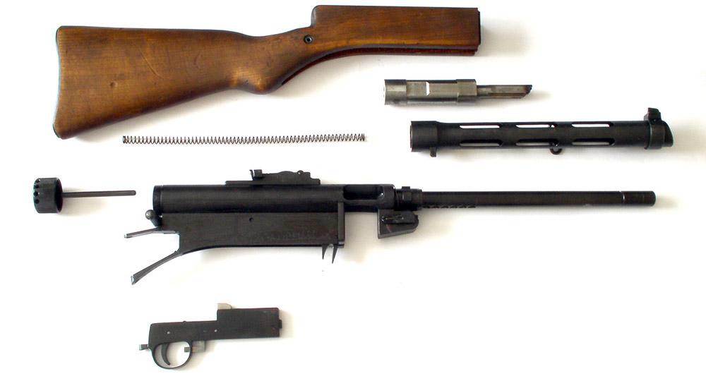 Неполная разборка пистолета-пулемёта Suomi KP/-31