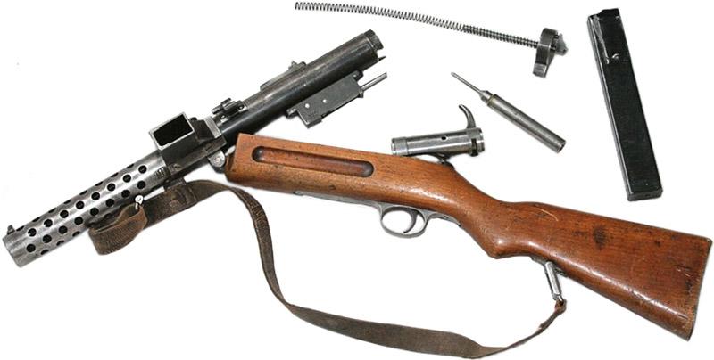 Неполная разборка пистолета-пулемёта MP 18.I