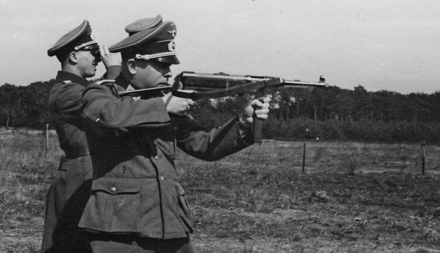 Пистолет-пулемёт MP 38 на испытаниях
