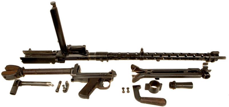 Пулемёт MG 13, неполная разборка