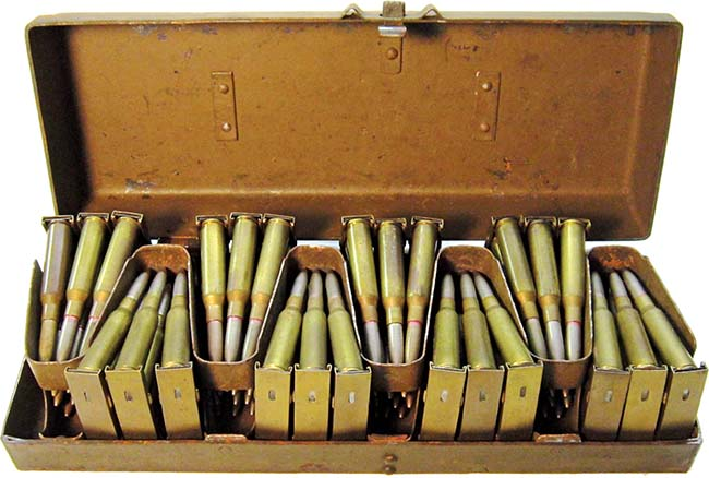Коробка с винтовочными обоймами для пулемёта Тип 11