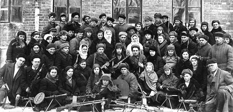 Бойцы советского партизанского одряда, Ростов-на-Дону, 1943 год
