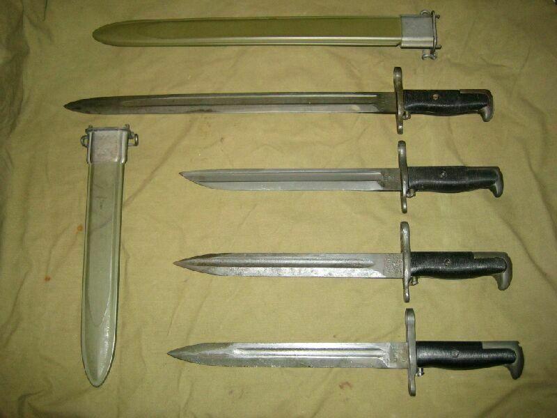Различные варианты штыков для M1 Garand