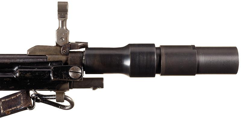 30-мм ружейный гранатомет «Gewehrgranatengerat‑2» на стволе винтовки FG-42 тип «G»