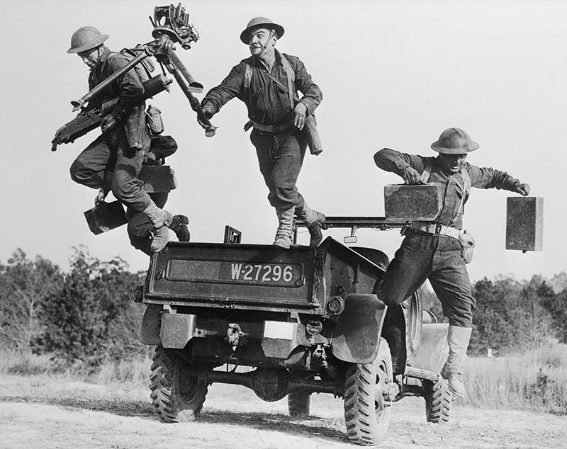 Американские солдаты на маневрах