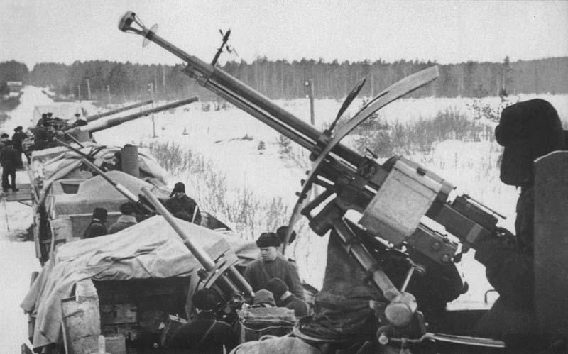 ДШК на бронепоезде, 1941 год.