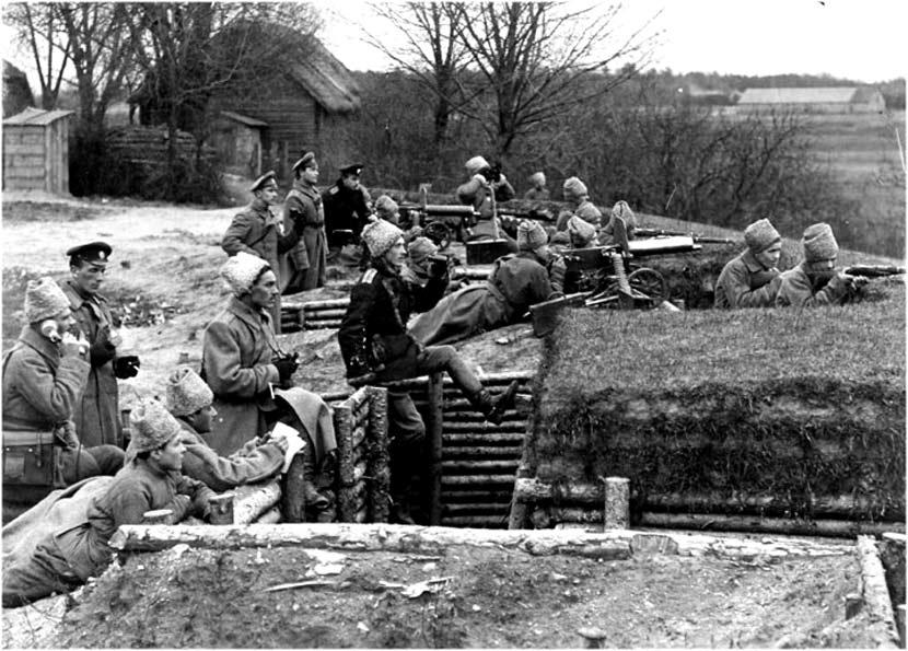 Пулемёты «Максим» в окопах Первой мировой войны