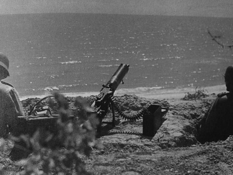 Немецкие пулемётчики на Крите