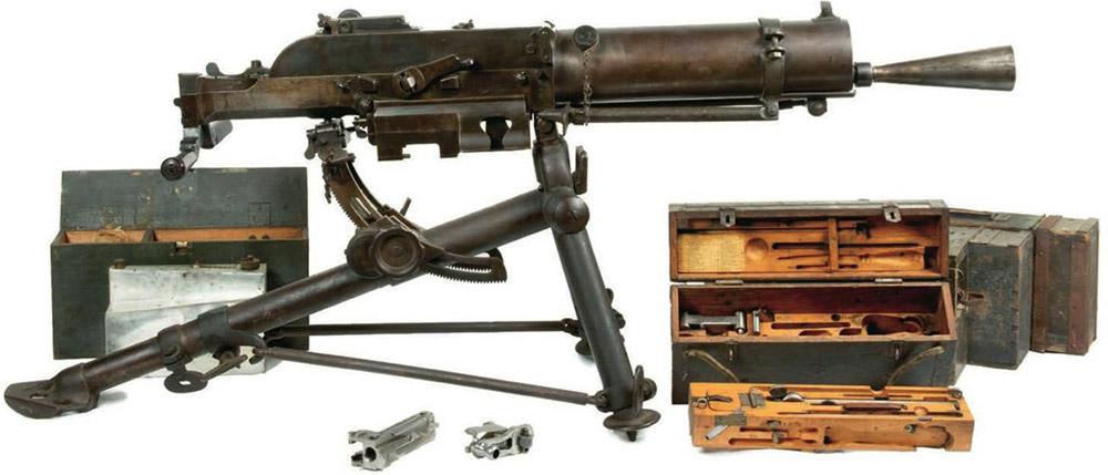 Пулемет Schwarzlose с принадлежностями