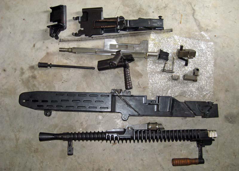 Неполная разборка пулемёта