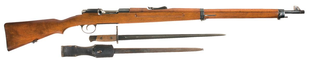Винтовка Mannlicher-Schoenauer M1903/14 итальянского производства со штыком