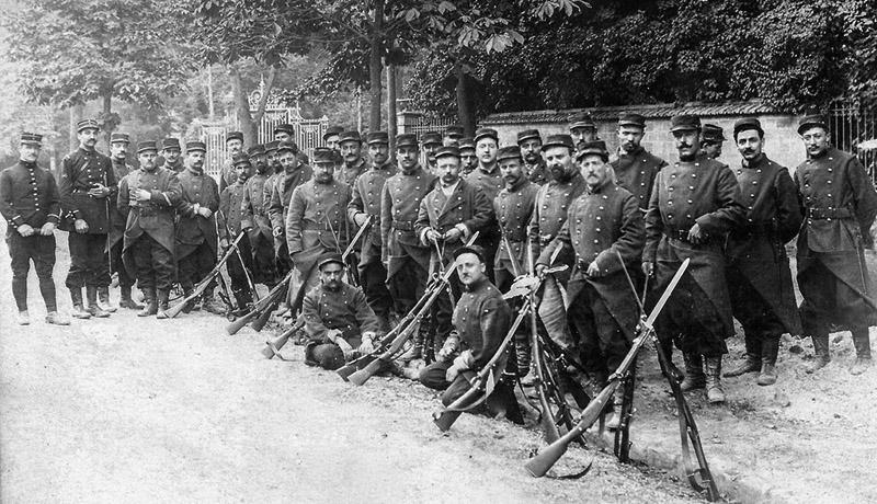 Французские солдаты на привале