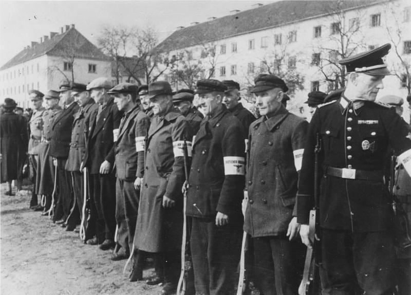 Бойцы немецкого Фольксштурма