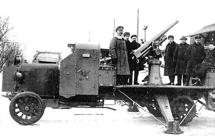 грузовик РВБЗ с 76-мм зенитной пушкой обр.1915 г.