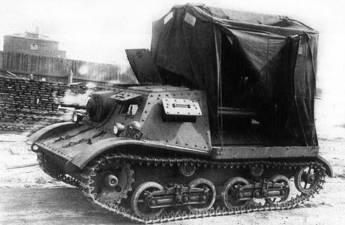 Тягач Т-20 'Комсомолец' с тентом