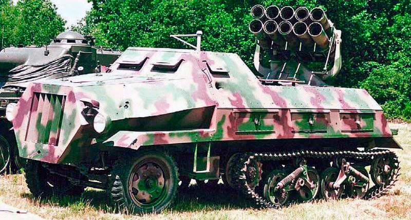Немецкий реактивный миномет на бронемашине 15cm Panzerwerfer-42