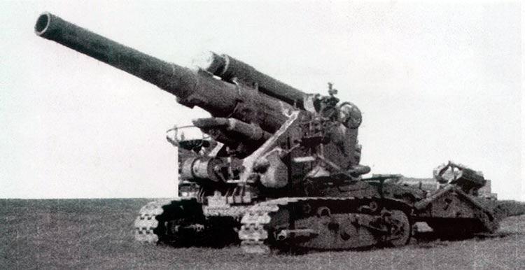 280-мм мортира большой мощности образца 1939 г