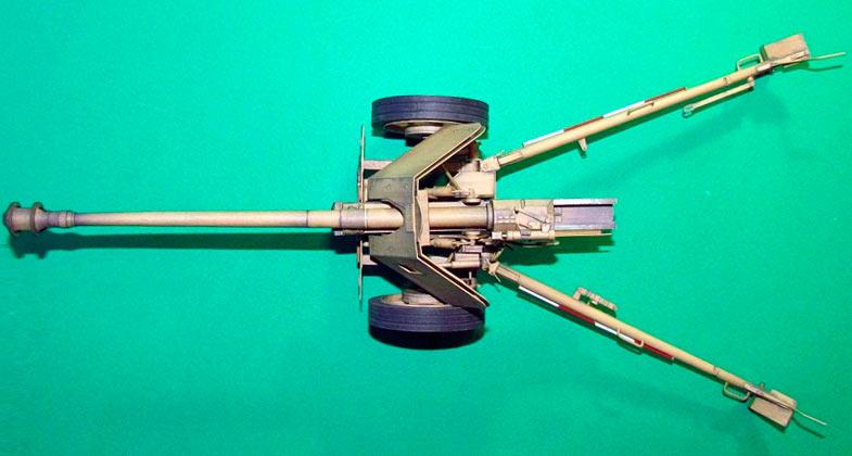 Модель 75-мм противотанковой пушки PaK-40 обр. 1939 г., вид сверху