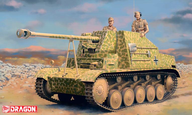 Самоходка Sd.Kfz.131 «Marder II» на шасси танка Pz.II - фактически, пушка PaK-40 на гусеничном ходу