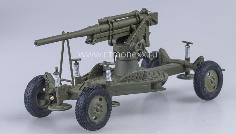 Советская 76-мм зенитная пушка образца 1938 года (модель)