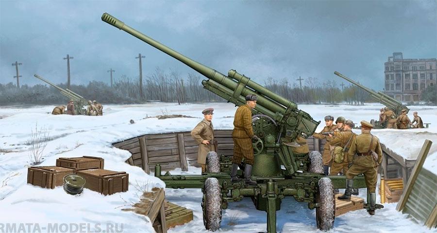 Отличить 85-мм зенитную пушку образца 1939 г. 52-К от более ранней 76-мм зенитки образца 1938 г. просто