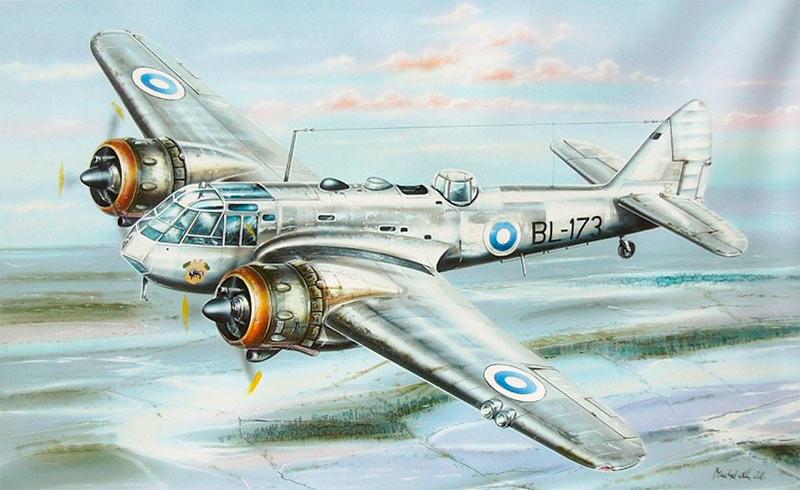 Бомбардировщик Бристоль «Бленхейм» Mk.I финских ВВС