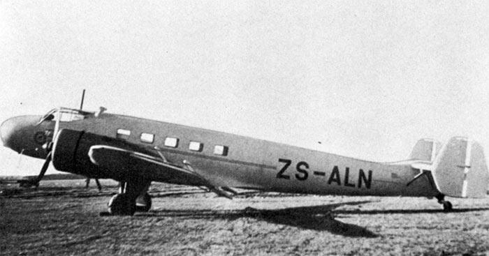Гражданский самолет на базе бомбардировщик Ju-86, модификация Ju-86Z