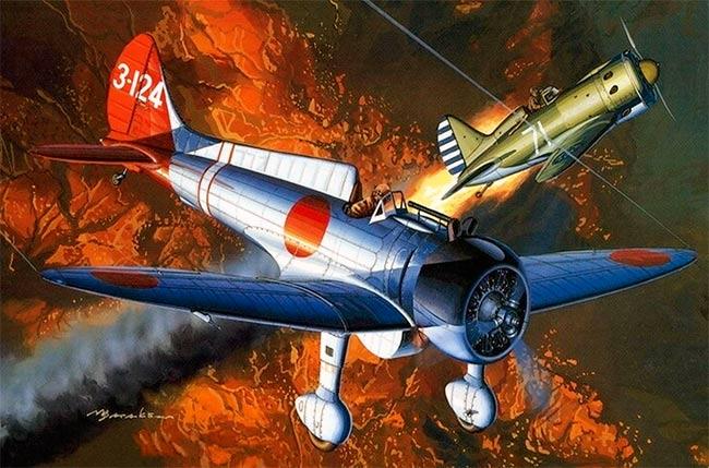 Истребитель A5M «тип 96» фирмы «Мицубиси»