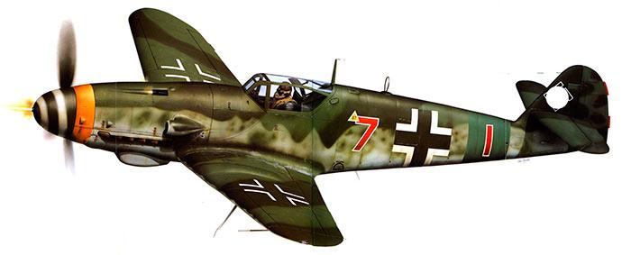 немецкий истребитель Bf-109K