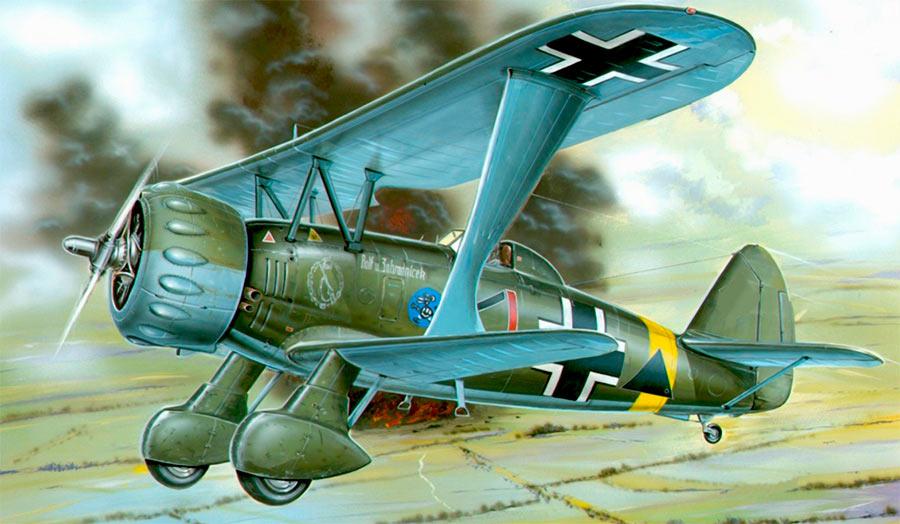 Пикирующий бомбардировщик Хеншель Hs.123