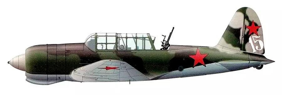 Серийный Су-2 с турелью ТСС-1. В таком виде было выпущено порядка 250 самолетов.